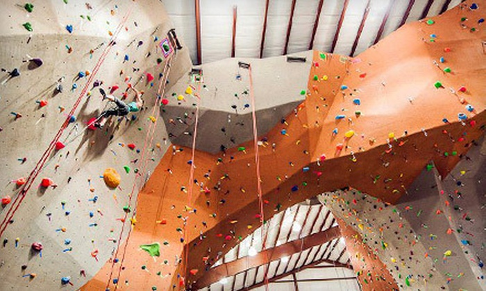 Vertical Rock Indoor Climbing and Fitness Center - Manassas: Two One-Day Visits with Gear or an Intro Climbing Package at Vertical Rock Indoor Climbing and Fitness Center (Half Off)