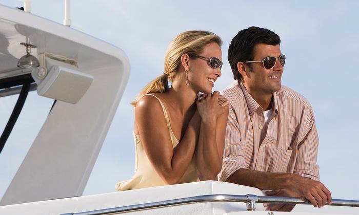 Boat Party NY - Skyport Marina: Manhattan Cruise on Tuesday, Thursday, Friday, or Saturday Night from Boat Party NY (50% Off)