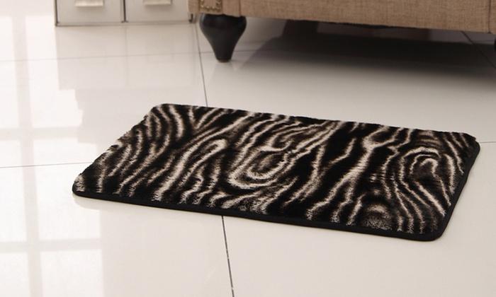 Animal Print Memory Foam Bath Rug | Groupon