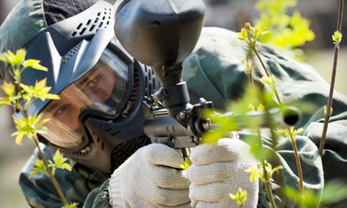 Combat Zone Paintball Park - Sennett: All-Day Paintballing with Gear for Two, Four or Six at Combat Zone Paintball Park (Half Off)