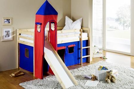 kinder hochbett aus kiefernholz groupon goods. Black Bedroom Furniture Sets. Home Design Ideas