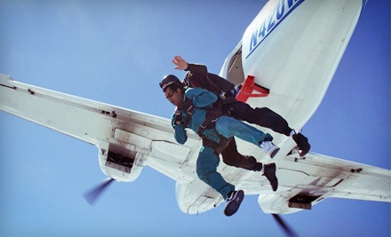 $125 for a Static-Line Skydiving Session with a First-Jump Course from Skydive! Toledo ($209 Value)