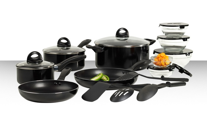 17 piece kitchen starter set groupon goods for Toko aluminium kitchen set