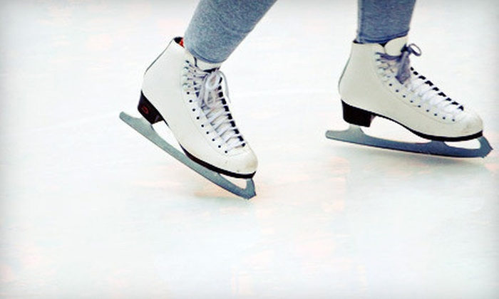 Carlson Ice Arena - Loves Park: Two-Hour Free Skate with Skate Rental for Two Adults or Two Adults and Two Children at Carlson Ice Arena (Up to 54% Off)