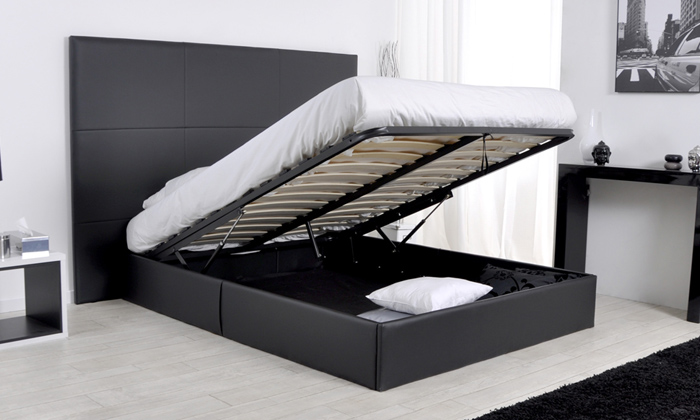 lit avec coffre et matelas groupon shopping. Black Bedroom Furniture Sets. Home Design Ideas
