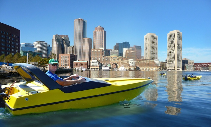 Boston Harbor Mini Speed Boats, Inc. - North End: $99 for a Mini-Speedboat Tour with Souvenir Photo from Boston Harbor Mini Speed Boats, Inc. ($159.59 Value)