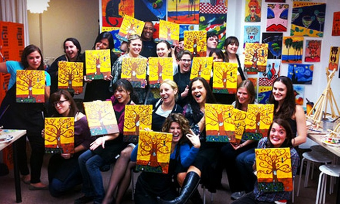 Art Plus Studio - Downtown: $39 for BYOB Painting Class for Two at Art Plus Studio (Up to $80 Value)