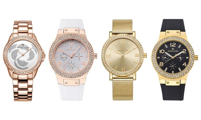 1 o 2 relojes para mujer Timothy Stone adornados con cristales Swarovski® con envío gratuito
