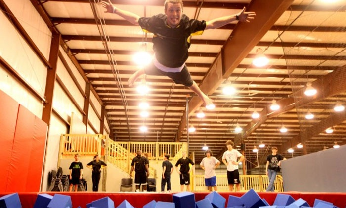 Stratosphere Trampoline Park - Delmar: Two Hours of Jump Time for Two or Four at Stratosphere Trampoline Park (Up to 51% Off)