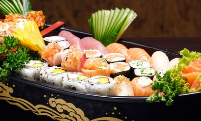 $19 for Appetizers, Sake Bomb, and a Special Maki Roll for Two at Ginban <strong>Sushi</strong> ($31 Value)