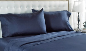 Wrinkle Resistant 300-thread-count 100% Cotton Solid Sheet Sets From $34.99��$44.99