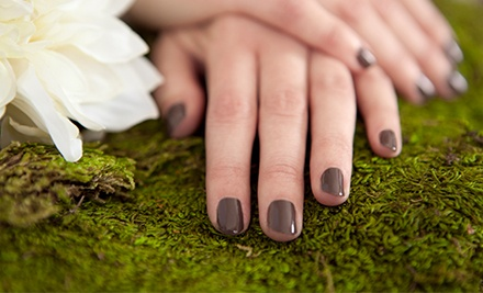 One or Three Shellac Manicures at Harmony Day Spa (Up to 57% Off)