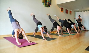 Ocean Yoga: 10 or 20 Yoga Classes or One Month of Unlimited Classes at Ocean Yoga (Up to 74% Off)