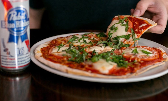 Motel Bar - River North: Dinner for Two or Four with Flatbread Pizza, PBRs, and Shots of Jameson at Motel Bar (Up to 56% Off)