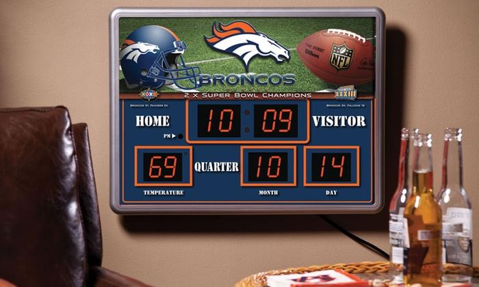 Coastal Auto Group >> NFL Scoreboard Wall Clock | Groupon