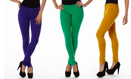 Women's Junior, Misses, And Plus-Size 5-Pocket Ponti Pants. Multiple Options Available. Free Returns.