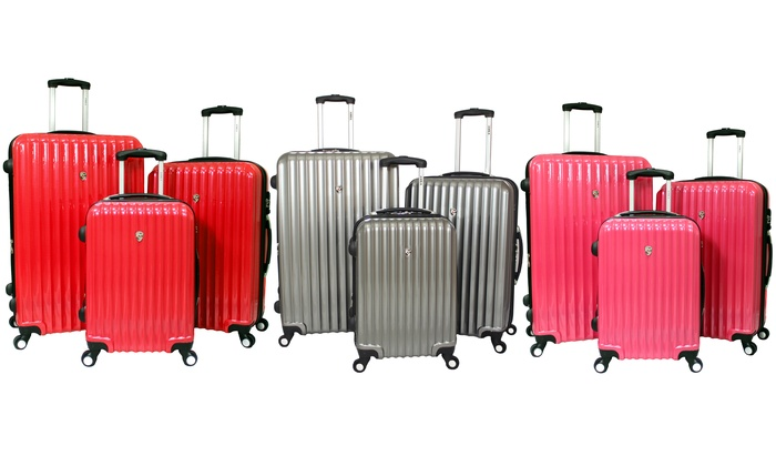 Amka Three-Piece Expandable Spinner Luggage Set: Amka Three-Piece Expandable Spinner Luggage Set
