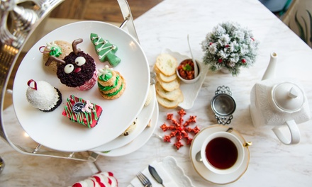 Festive Afternoon Tea with Glass or Bottle of Prosecco for Two or Four at Clayton Hotel City of London