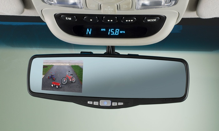 Peak Rear-View Mirror Back-Up Camera System | Groupon