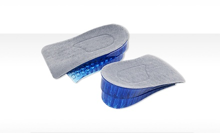 Pair of Shock-Absorbing Honeycomb-Gel Heel-Supporting Insoles for Men