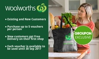 Woolworths Online: $5 for $30 to Spend on Groceries - Min. Spend $120 - Existing & New Customers