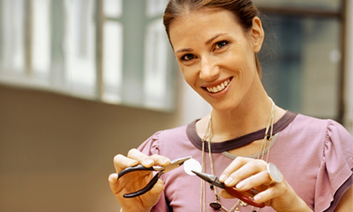Dallas Handmade Arts Market, Inc - Downtown Dallas: Jewelry-Making Class for One or Two at Dallas Handmade Arts Market, Inc (51% Off)