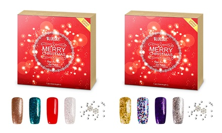 BlueSky Christmas Gel Nail Polish Set for £25.99 With Free Delivery