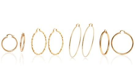 18-Karat Gold Plated Hoop Earrings