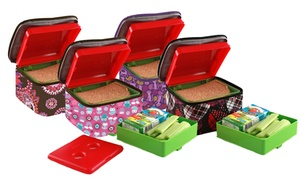 patterned bento lunch set groupon goods. Black Bedroom Furniture Sets. Home Design Ideas