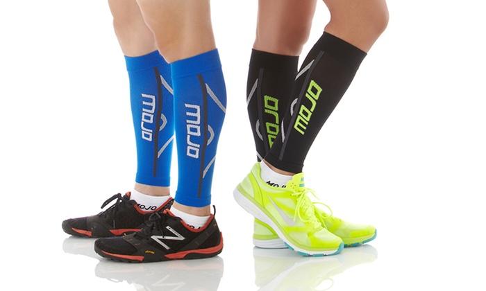 MoJo Elite Running Calf Graduated Compression Sleeves: 1 Pair of MoJo Elite Running CalfGraduatedCompression Sleeves.