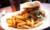 Cheapskates Action Sports Bar - Multiple Locations: Pub Food and Drinks at Cheapskates Action Sports Bar (Half Off). Two Options Available.