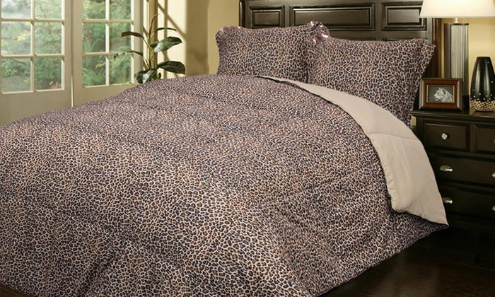 Reversible Animal-Print Duvet Set with Comforter: Reversible Animal-Print Duvet Set with Comforter. Multiple Styles Available. Free Returns.