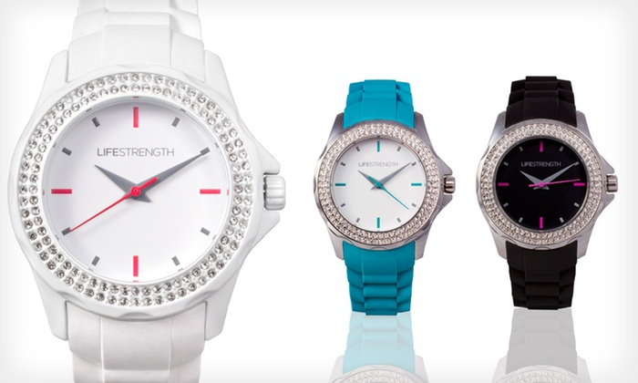 Lifestrength Watches: Lifestrength Unisex Vita Watch or Women's Oh La La Watch (Up to 72% Off). Multiple Colors Available. Free Shipping.
