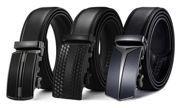S symbol Mens belts Automatic Solid Buckle Leather Belts for men