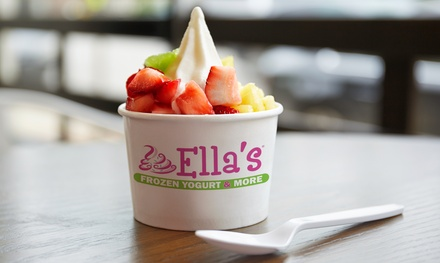 Three Groupons, Each good for $10 Worth of Frozen Yogurt at Ella's, or Ella's Place Event Room Rental (Up to 40% Off)