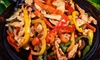 Baja Surf Grill - Victoria: Three-Course Fajita Dinner for Two or Four at Baja Grill (Up to 53% Off)