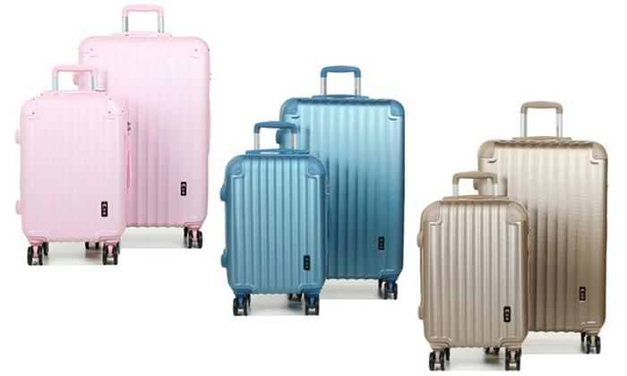 vente chaude en ligne be16e 827e4 jusqu'à 78% Set 2 valises ABS 4 roues CDB   Groupon