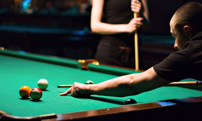 Crown Billiards - Pompton Lakes: Billiards for Two or Four with Pizza and Drinks at Crown Billiards (Up to 52% Off)