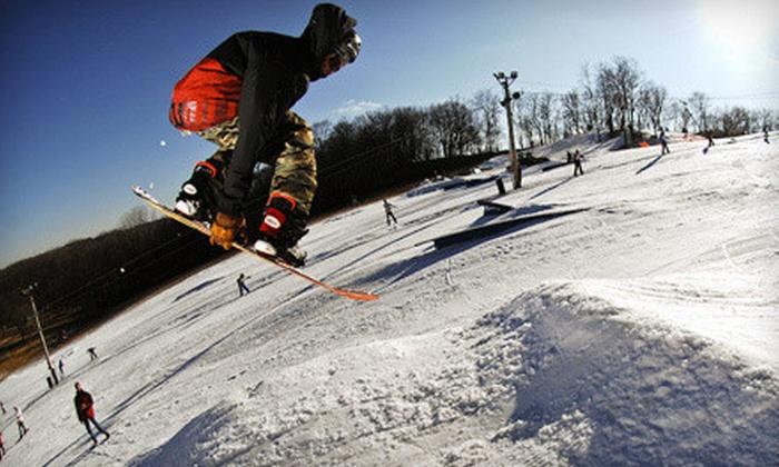 Raging Buffalo Snowboard Ski Park - Raging Buffalo Snowboard Park: All-Day Lift Ticket or Snowboarding Package with Equipment Rental at Raging Buffalo Snowboard Ski Park (Up to 72% Off)