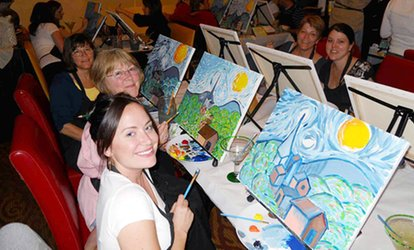 image for Wine and Painting Class for One or Two at Wine and Canvas - Charlotte (Up to 49% Off)