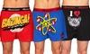 Big Bang Theory Boxers: Three-Pack of Big Bang Theory Boxers.