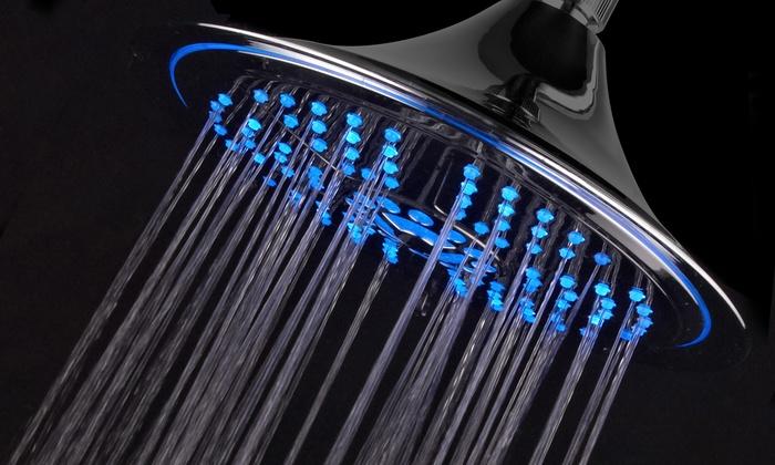 "DreamSpa 8"" Color-Changing 5-Setting LED Rainfall Showerhead"