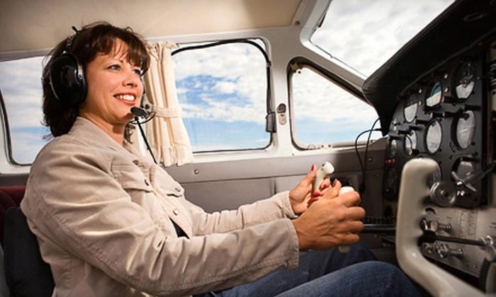 Crosswinds Flight School - Monroe: In-Air Flight Lesson for One at Crosswinds Flight School (55% Off)