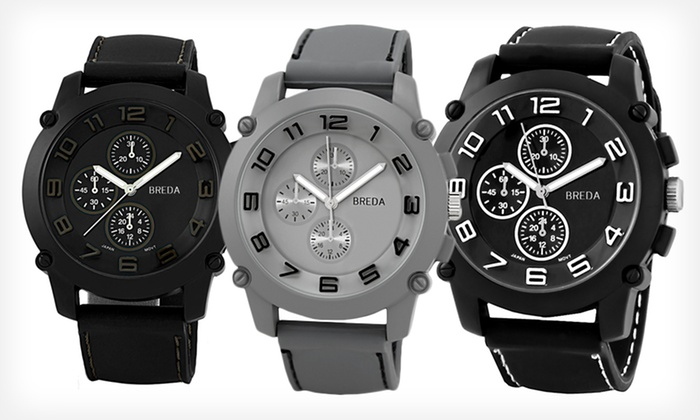 Breda Men's Analog Watches: Breda Men's Analog Watch (Up to 67% Off). Multiple Designs Available. Free Shipping and Returns.