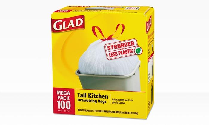 Glad 13gal. Tall Kitchen Drawstring Bags: Glad 13gal. Tall Kitchen Drawstring Bags; 100ct. Box. Free Returns.