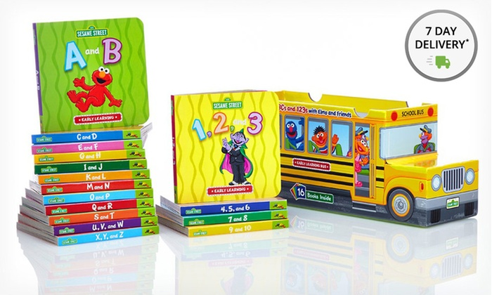 Sesame Street Book Bundle: Sesame Street Bus of Books. Free Shipping.
