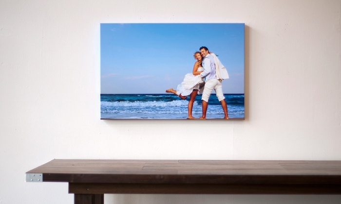 photo canvas prints stretch and staple groupon