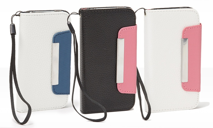 Faux-Leather Wallet Case for iPhone 4/5 or Galaxy S3/S4: Faux-Leather Wallet Case for iPhone 4/5 or Galaxy S3/S4. Multiple Colors Available.