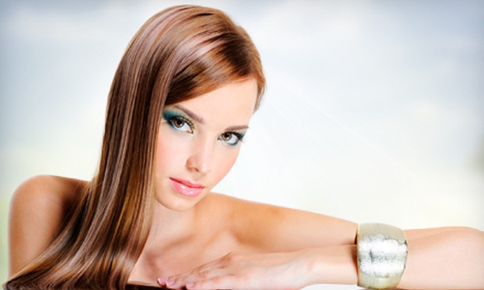 Christopher Anthony Salon & Spa - Doctor Phillips: Haircut with Color or Partial Highlights, or Hair Straightening at Christopher Anthony Salon & Spa (Up to 72% Off)