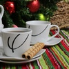 8-Piece Porcelain Coffee-Cup Sets